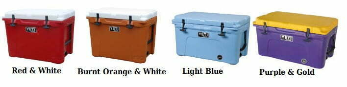yeti coolers colors