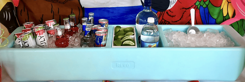 best portable mini-bar for tailgating - revo party barge review